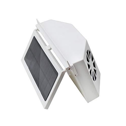 TuToy 12V 3 Power Switch Solar Powered Car Ventilator Solar Powered Car Exhaust Fan Car Radiator - White