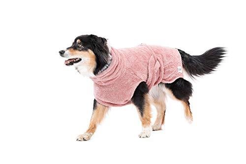 Lill's Hundebademantel, 100% Bio-Baumwolle, Organic Pinkberry (Rosa/Pink) (S)