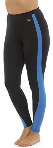 Tom Franks - Pantalon de sport - Leggings - Femme - Bleu - Medium