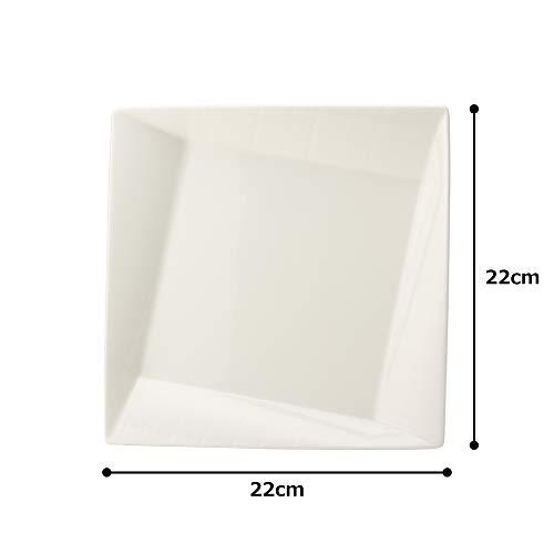 NARUMI(ナルミ) プレート 皿 エスプリ ホワイト 22cm 電子レンジ温め対応 50180-3598
