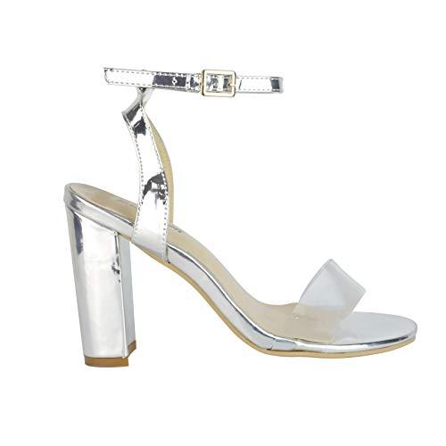 BeMeesh Plataforma Mujer Tacón Metacrilato Sandalias Verano Zapatos
