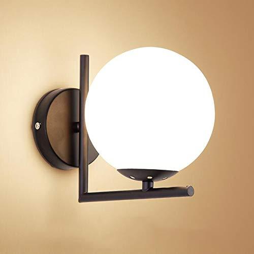 Mengjay Moderne Wandleuchte LED Kugel Wandlampe Spiegellampe Glaskugel LED Wandleuchten Modern wandleuchte innen Metall Edelstahl Halterung,wandleuchten wohnzimmer, Schlafzimmer, Gang (A)