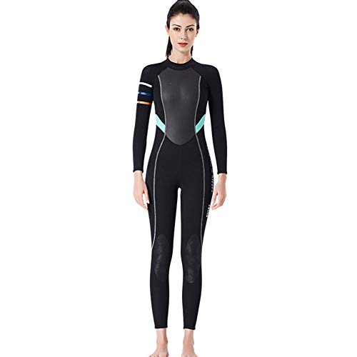 YZT QUEEN Damen Neoprenanzug, Damen Ganzkörper 3Mm Neoprenanzug, Adult Neopren High Stretch Surfing Diving Neoprenanzug,Schwarz,M