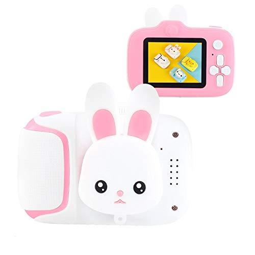 Cámara Infantil Mini Pantalla Cámara Digital Video Linda 1080p HD CAMPARDE CAMCAREJA EDUCAJE EDUCA DE Juguete DE Cama DE Cambia para CUMPLEAÑOS (Color : White Bunny)
