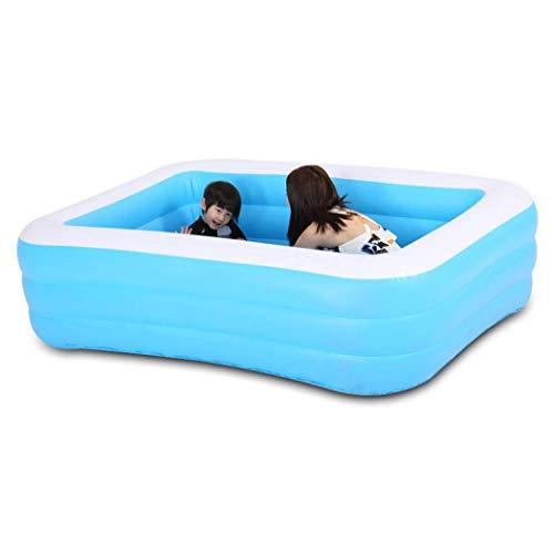GWFVA Familia Sable Piscina con bomba, piscina inflable para niños y adultos Entretenimiento Piscina Remoladora, Múltiples Opciones de Tamaño