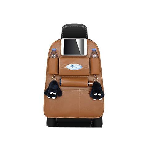 Sac de rangement arrière pour siège de voiture en cuir multifonctionnel