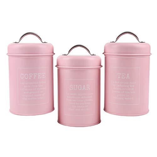P Prettyia 3 Uds, Botes de Hierro, Cajas de Latas Selladas, Recipientes de Almacenamiento para Té Y Café de Cocina