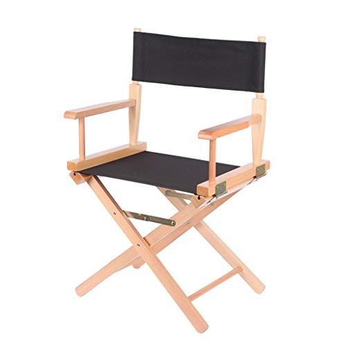 SHYM Tragbarer Regiestuhl Klappstuhl mit Canvas-Rückenlehne Humanisiertes Design Hochwertiges Hardware-Zubehör Grüner Lack Bequeme Sitzhaltung