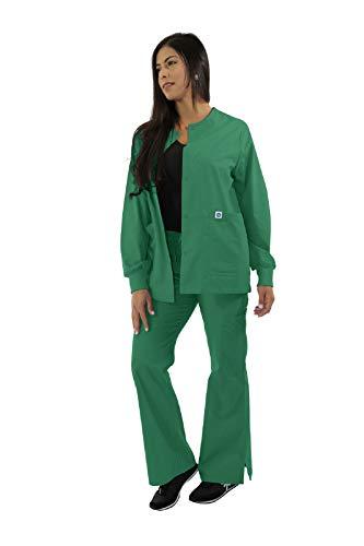 Spectrum Scrub Jackets Doctor Coat-Crew Neck Multi Pocket Unisex Uniforms S
