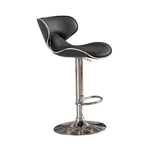 NAN liang Tabourets de bar pour comptoir de cuisine, chaises pivotantes ajustables à 360 ° avec chaises chromées pour salle à manger, 330 livres de gravité, noir, blanc (Couleur : NOIR)