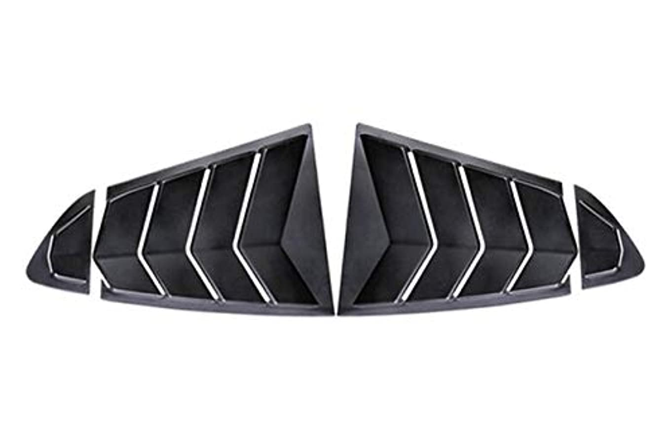 追い出す下向き肥満マツダ6つの4 PCS ABSプラスチック製リアウィンドウトライアングルシャッターカバートリム18 19 20アテンザスポイラーカースタイリングアクセサリー、リアウィンドウトライアングルカバーにフィット (Color : Primer Matte black)