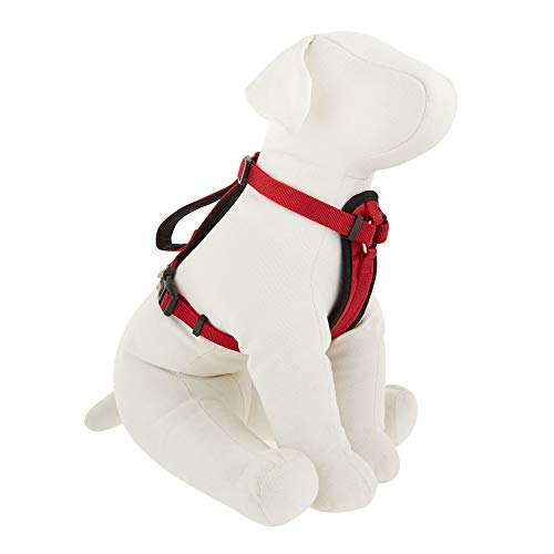 KONG Comfort Padded Chest Plate Dog Harness Offered by Barker Brands Inc. (Large, Red)