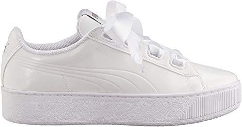 Puma Damen Vikky Platform Ribbon P Sneaker, Weiß White White, 41 EU