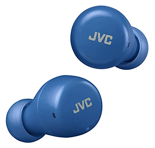 JVC Gumy Mini True Wireless Earbuds [Amazon Exclusive Edition] Auriculares Inalámbricos, Bluetooth 5.1, ResistenciaAgua (IPX4), Gran Duración de la Batería (hasta 15 Horas) - HA-Z55T-A (Azul)