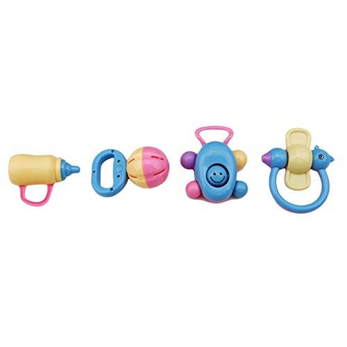 EJY 4PCS Bébé Hochet Saisir Jouets Infantiles Secouant Bell Jouets pour Garçon et Fille