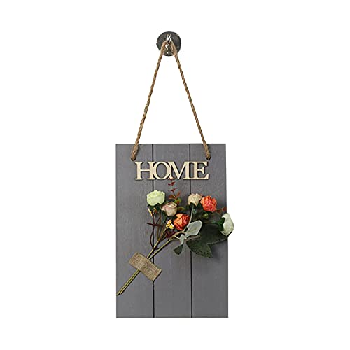 Lalaluka Welcome Sign Front Door Welcome Wreaths Wooden Sign for Farmhouse Porch Decor Rustic Wood Wall Sign Hanger Door Decorations Outdoor Hanging Gift Craft