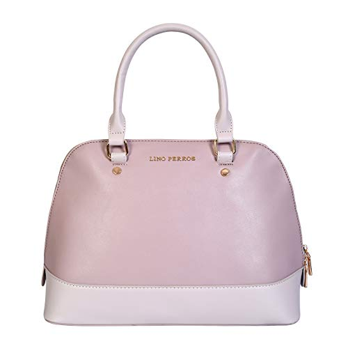 Lino Perros Womens Pink Synthetic Leather Satchel (Purple)