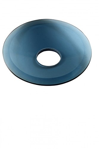 Replacement Waterfall Faucet Blue Glass Disc Plate   Renovator's Supply