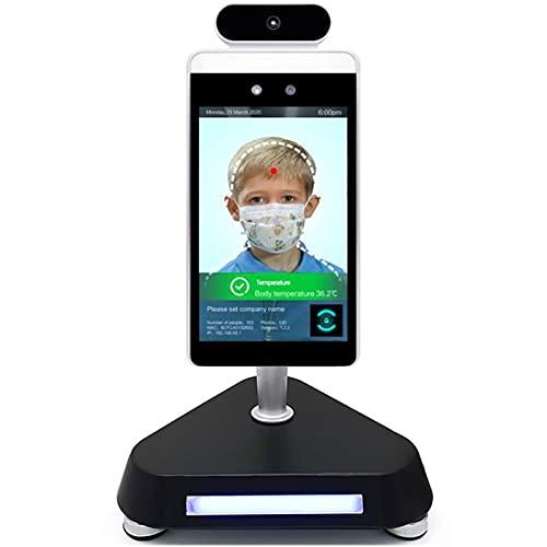 LVHI Cámara Termal De Reconocimiento Facial IP, Cámara Térmica De para Detección De Temperatura del Cuerpo Humano, Control De Acceso, Cámaras De Reconocimiento Facial