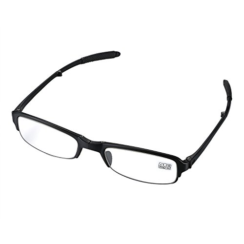 Aroncent Lesebrille schwarz in verschiedenen Stärken, Lesehilfe Sehhilfe Augenoptik Halbrand Halbrandbrille Brille für Damen Herren +1.5