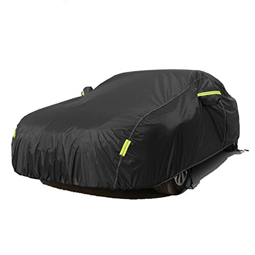 para Universal Negro Impermeable Cubiertas Completas Cubiertas de Agua Full Snow Ice Dust Sun UV Shade Cover Indoor Outdoor para Audi A3 A4 A5 A6 A8 Q3 Q5 Q7 (Envio de : China, Nome da Cor : Q5)