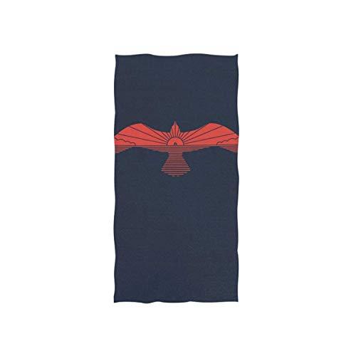 Bert-Collins Towel Toalla de Playa Toalla de baño con Gran Estampado de Gaviota con Respaldo Negro para baño 80x130cm