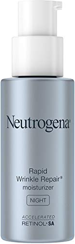 Neutrogena Rapid Wrinkle Repair Daily Retinol Anti-Wrinkle Moisturizer, Anti-Wrinkle Face & Neck Retinol Cream with Hyaluronic Acid, Retinol & Glycerin with SPF 30 Sunscreen, 1 fl. oz