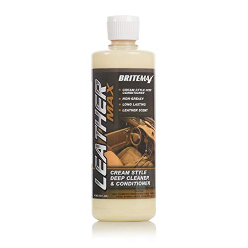 Britemax BX119-16 Leather Max-Cream Style mild Cleaner & Conditioner 473ml