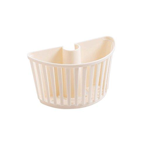 LBYMYB Estante de plástico para cocina, estante de almacenamiento para guardar desechos, escurridor, estante de almacenamiento de cocina (color beige)