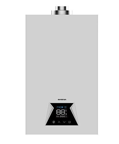 INFINITON CALENTADOR DE AGUA POR GAS GWN-12NP - Gas BUTANO, 12 Litros, Encendido automatico, Temperatura ajustable, Clase A, Display LED (G31-37mbar)