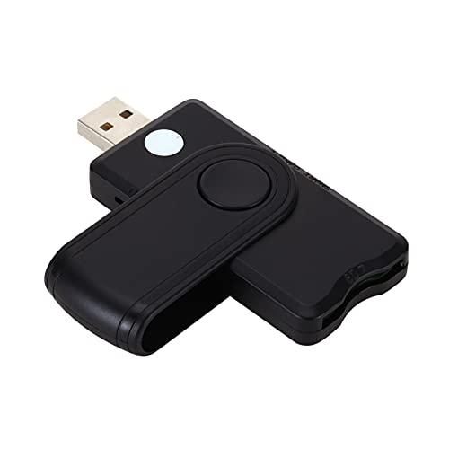 Staright Leitor de cartão inteligente USB 2.0 TF SD SIM leitor de cartão de banco ID EMV cartão leitor adaptador