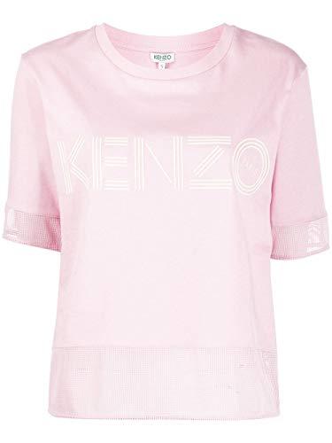 Luxury Fashion | Kenzo Dames FA52TS61798634 Roze Katoen T-shirts | Lente-zomer 20