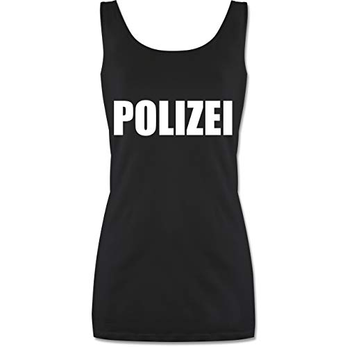Shirtracer Karneval & Fasching - Polizei Karneval Kostüm - L - Schwarz - Kostuem Polizei - P72 - Tanktop für Damen und Frauen Tops