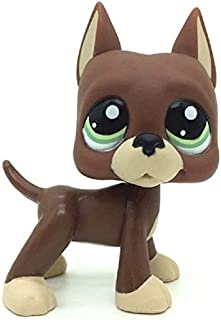 Mini Pet Shop, LPS Toy LPS Loose Toys Brown Great Dane Puggy Dog Green Eyes Figures Kid Gift