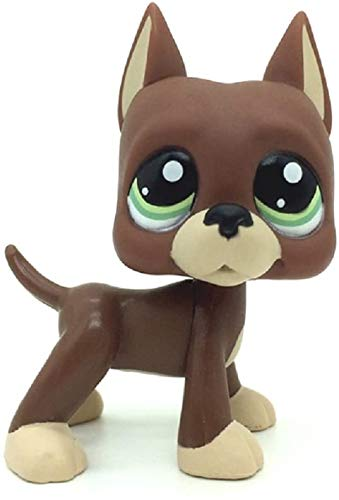 N/N Littlest Pet Shop, LPS Toy LPSs Loose Toys Brown Great Dane Puggy Dog Green Eyes