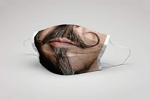 Mundmaske Schnurrbart Bart waschbar Maske Bartmaske