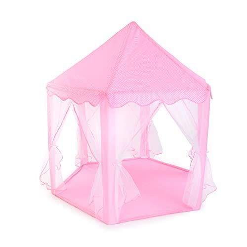 BREEZEE MARKET Castillo Carpa Casa Princesas Portatil. Castillo de Princesas Cute Interior Kids Play Tienda de campaña al Aire. Playhouse (Rosa)