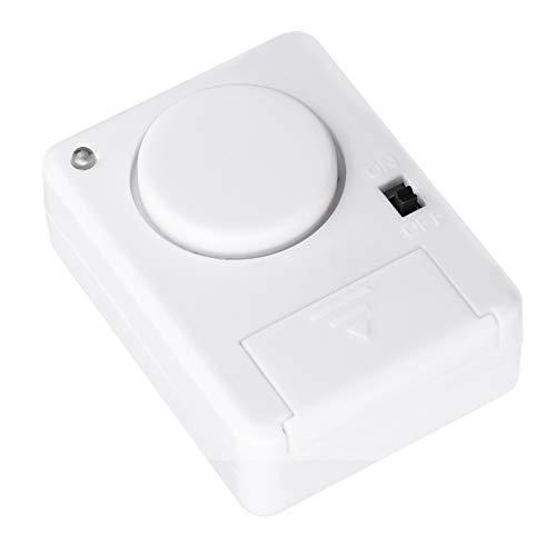 Cabilock Puerta de Seguridad Personal Ventana Alarma Puerta Sensor Timbre Antirrobo Alarma de Vibración para El Hogar Garaje Apartamento Dormitorio RV Oficina Blanco