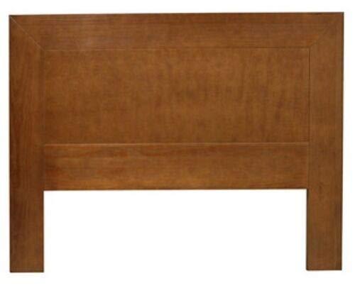 ElleDesign - Cabecero de cama individual de madera maciza de pino mordenzado cerezo cabecero
