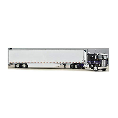 1/64 DCP Black Cherry/Gold/Purple Kenworth K-100 110 FT Cab with Closed Tandem Utility Reefer by First Gear 60-0899
