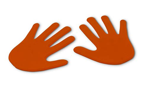 Vinex Paar Bodenmarkierungen in Handform - orange
