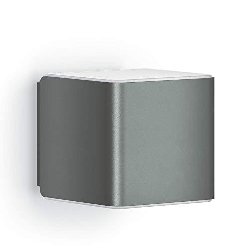 Steinel L 840 iHF Cubo Wandlamp, LED-Buitenlamp, 160° Bewegingsmelder, 9,5 W, Bedienbaar via App Bedienbaar, UV-Bestendig Kunststof, Antraciet