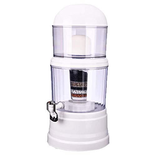 DZX Filtro de Agua 14L Purificador de Agua para el hogar Dispensador de Agua alcalina Tratamiento de Agua Potable Bebida Recta, para el hogar y la Oficina