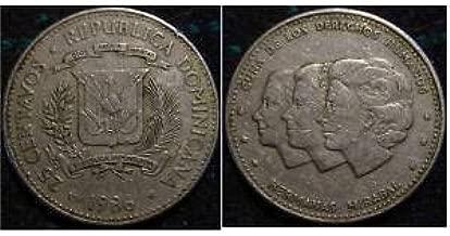 1986 Dominican Republic 25 Centavos