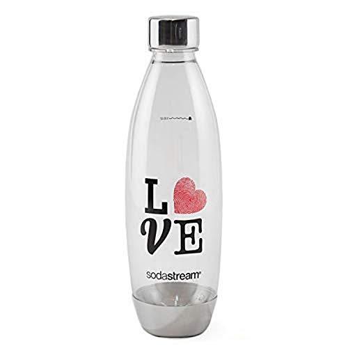 SodaStream 1 garrafa de carbonatação amor de metal, 1 garrafa