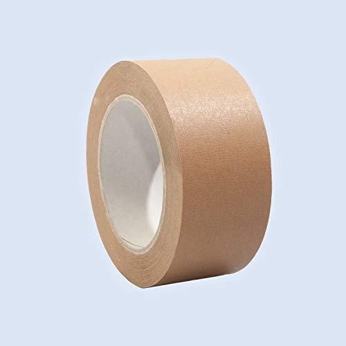 Papierklebeband | Papierpackband | Papierband | Ökologisch & nachhaltig, 50mm x 50m, braun