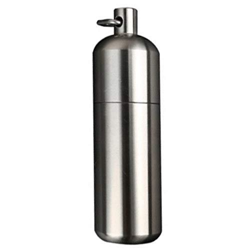 Cikuso Edelstahl Wasserdichte Pillen Kasten Beh?Lter Aluminium Medizin Flasche Keychain Drogen Halter Pers?Nliche Gesundheit Pflege