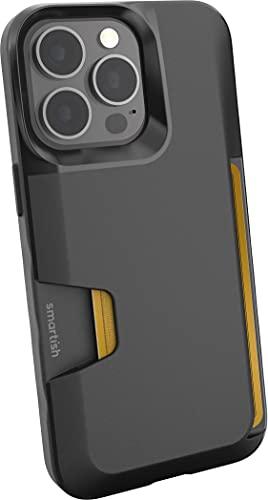 Smartish iPhone 13 Pro Wallet Case - Wallet Slayer Vol. 1 [Slim + Protective] Credit Card Holder - Black Tie Affair