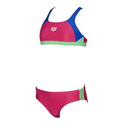 ARENA Mädchen Sport Bikini Ren, Freak Rose-Neon Blue-Golf gree, 152