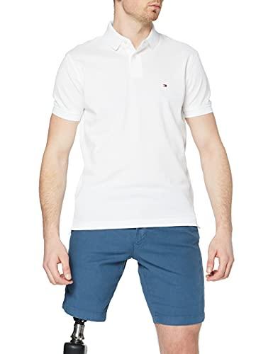 Tommy Hilfiger 1985 Regular Polo, Camisa de polo Hombre, Blanco, L